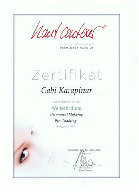 Zertifikat Weiterbildung Permanent-Make-up Pro Coaching